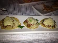 Tacos de filet at the Sandbar St Thomas